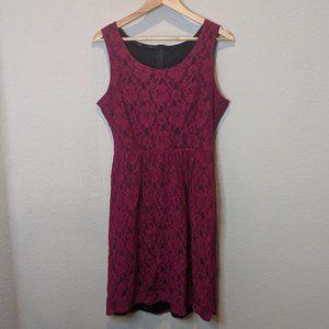 Maurices Purple Floral Short Dress 11/12